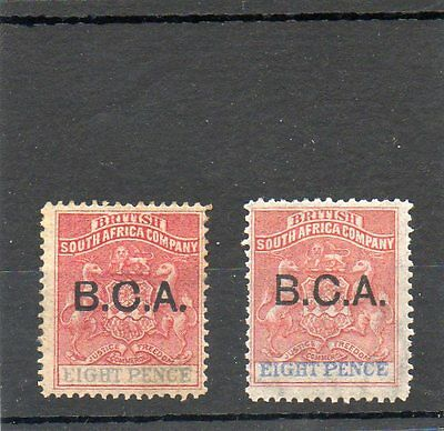 SG 6/SG 6a BRITISH CENTRAL AFRICA/NYASALAND  MINT PAIR CAT £60 TWO SCANS