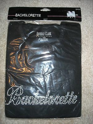 Beverly Clark Bachelorette Black Rhinestone T-Shirt in S M new in package party