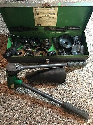 """Greenlee Knockout Punch Set 1/2"""" to 3"""" (Conduit Sizes ) N.1804+ Leather Case"""