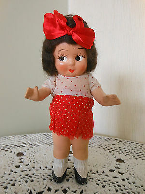 "*Vintage Composition CHUBBY Kewpie Doll RARE Black Hair* 8"" Tall*    ADORABLE!!!"