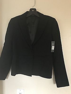 "THEORY Womens BLACK ""Taren"" BLAZER JACKET Size 4 NWT Bloomingdale's $375"