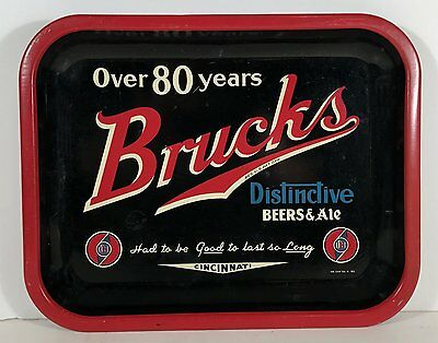1930s  BRUCKMAN BREWING Co. TIN LITHOGRAPH ADVERTISING SERVING TRAY BEER TRAY