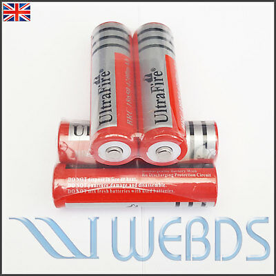 4 x Ultrafire 18650 8800 3.7V Rechargeable Li-ion Battery for Flashlight torch