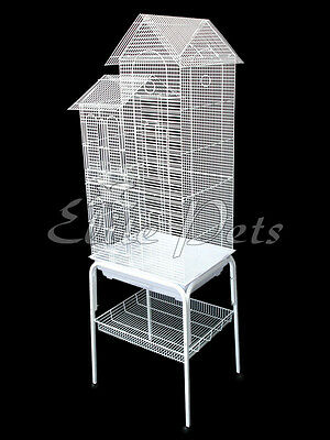 Bird Cage Finch Budgies Canary House Shaped Small 808A White with stand