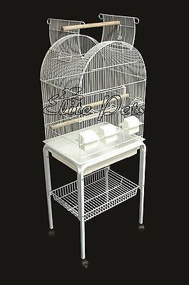Bird Cage Finch Budgies Parrotlet Cockatiel Canary Open Top Small 520 White