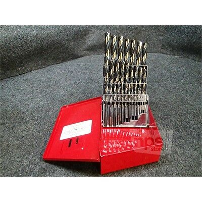 "29 Piece Viper Jobber Drill Set, 1/16"" to 1/2"", Black & Gold, High Speed Steel"