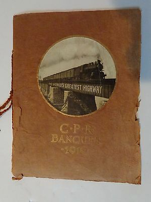 CPR/Canadian Pacific1919 Annual Meeting Banquet brochure
