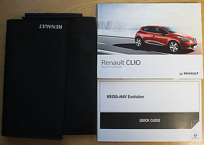 Renault Clio Owners Manual Handbook Wallet + Service Book 2013-2017 Pack 13746