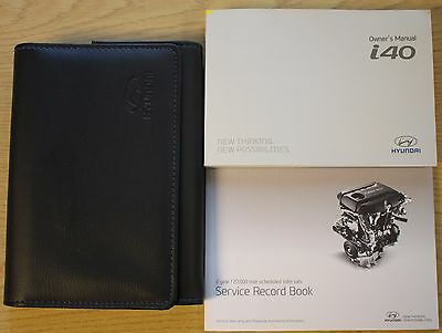 Hyundai I40 Owners Manual Handbook Wallet Audio And Service Book 2011-2016 Pack