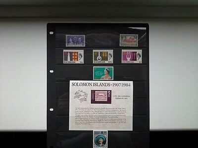 Solomon Islands - Small Selection of Stamps + Sheet Issued Between 1937 and 1985