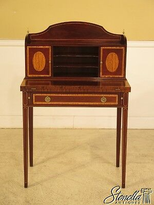 28772E: TRADITION HOUSE Inlaid Mahogany Flip Front Writing Desk