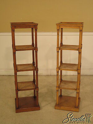 23973: Pair French Made Tiered Etagere Stands