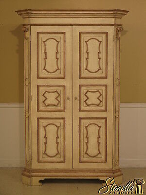 38512: BAKER Northern Italian Collection Paint Decorated TV Bedroom Armoire