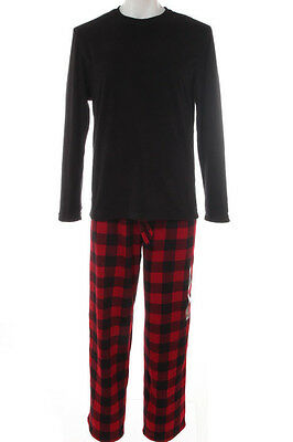 CLUB ROOM $70 NEW 7029 Fleece Pajama 2Pc Set Mens Sleepwear XL