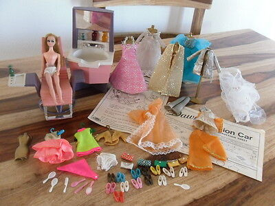 VTG Dawn Topper Doll LOT Shoes Clothes Beauty Parlor Accessories