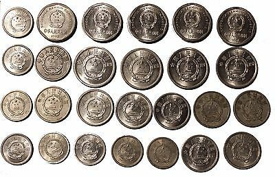 Chine / China 26 coins different value, different years