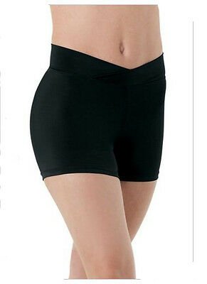 Theatricals Child Youth V-Cut Waist Black Booty Shorts - Large Child LC