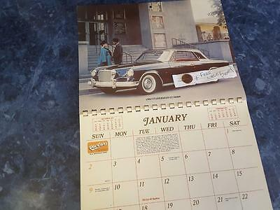 Old Cars 1977 complete NEW calendar Krause Publi FREE SHIP + FREE lucky PENNY !!