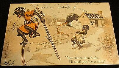 1907 Black Americana Korn Kinks Malted Flakes Cereal Advertising Post Card