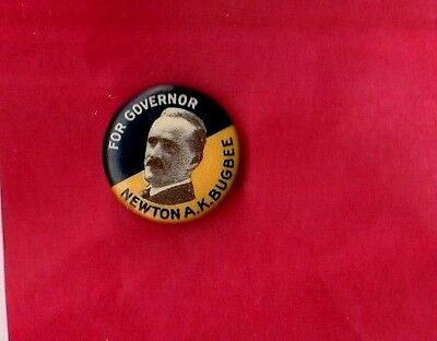 NJ Campaign GOVERNOR Pin NEWTON BUGBEE Button Political Pinback NEW JERSEY Badge