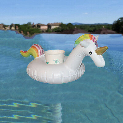 Cute Gift Unicorn Pool Party Inflatable Cup Holder Drink Float Rafts Toy