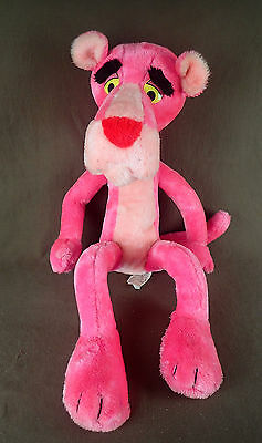 """Pink Panther Plush Doll * 30"""" HUGE poseable bendable * Vintage 1980 Mighty Star"""