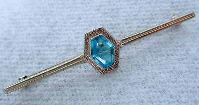 Antique Art Deco 10K White Gold Classic Authentic Elegant Pin Brooch