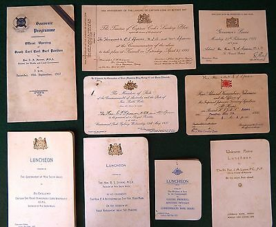 Collection of 1930's Political Invitations to Eric Sydney Spooner