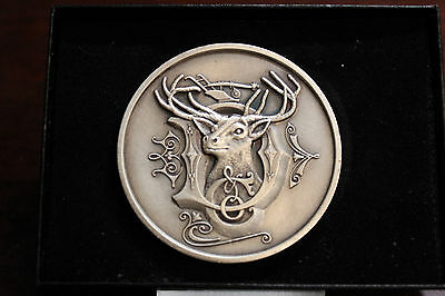 1981 John Deere Deer Head & Plow .999 Silver Plated, JD Moline, IL BELT BUCKLE