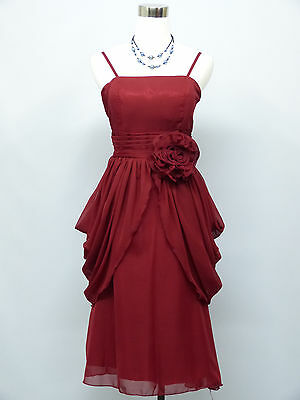 Cherlone Red Prom Ball Evening Bridesmaid Wedding Formal Gown Dress Size 12-14