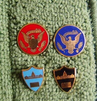 Rare Congressional Staff And Executive Office Staff Identification Lapel Pins