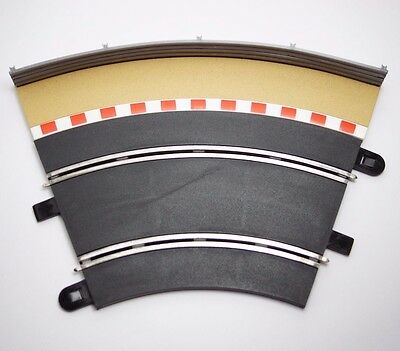 Scalextric Standard Curve Slot car track with outer curve boarder & barrier 45º