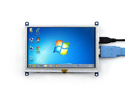 "5"" HDMI LCD Display 800×480 Resistive Touch Screen für Raspberry Pi  B, B+  L2s"