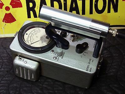 Eberline E-140 Geiger counter Gamma probe radiation detector calibrated