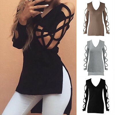 Fashion Ladies Summer Long Sleeve Shirt Casual Blouse Loose Cotton Tops T Shirt