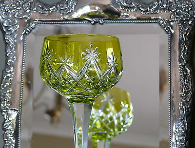 Vintage Cased Cut To Clear  24 % Crystal Chartreuse Wine Glass
