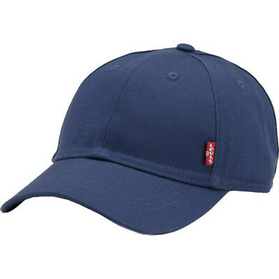 Levis Classic Twill Red Tab Mens Headwear Cap - Navy Blue One Size