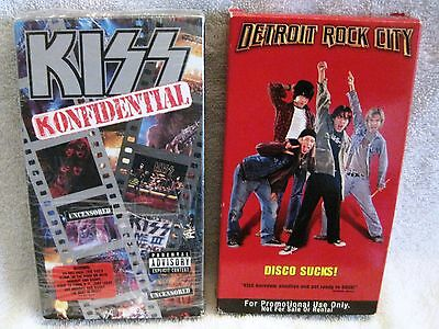Vhs X2 - Kiss Confidential And Detroit Rock City Promo Tape - Awesome Find!!