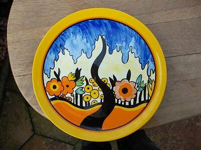 Clarice Cliff Plate Garden Blue By Wedgwood