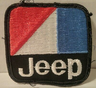 JEEP Vintage Logo PATCH Iron CLOTHING Stitch On JACKET Coveralls