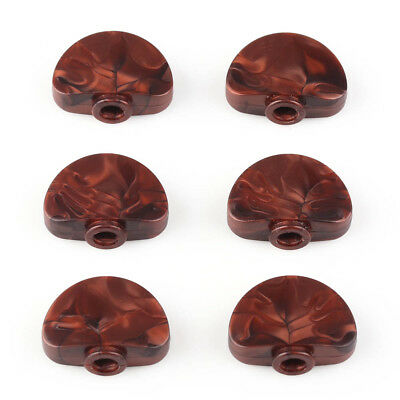 6pcs Pearl Brown Acrylic Tuning Key Buttons Pegs for Guitar Tuner Machine Head
