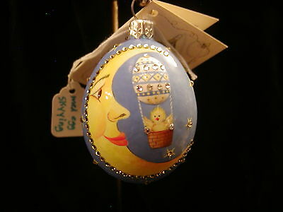 Patricia Breen Jeweled Easter Egg With Chick In Balloon
