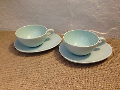 Nigella Lawson Living Kitchen Blue Cappuccino Cups and Saucers x 2
