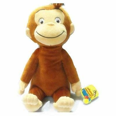 "NEW CURIOUS GEORGE PLUSH DOLL MONKEY PLUSH TOY Kids gift 11.8""/30 cm"