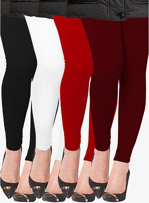 Wholesale Lot of 4 Pcs Women Ankle Length Legging Cotton Stretch Yoga Pants