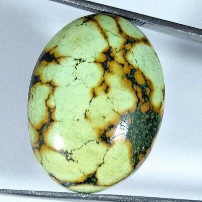 28.20Cts 100% NATURAL DESIGNER TIBET TURQUOISE OVAL CABOCHON UNTREATED GEMSTONE