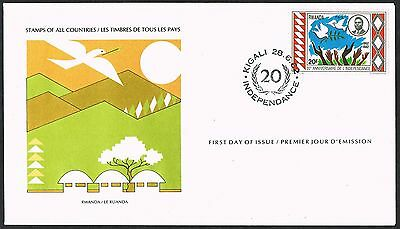Rwanda 1982. FDC. Peace/Doves/Independence. SG1106.