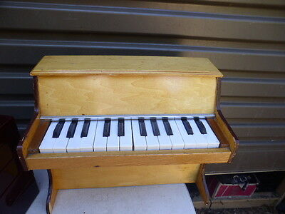 Vintage 70s Toy Piano Kids wooden