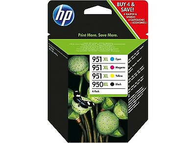 4 HP Genuine 950XL 951XL For OfficeJet Pro 8600 All In One Ink Cartridge