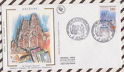 7 Fdc 138 Orleans Congres Associations Philateliques 1995 First Day Cover